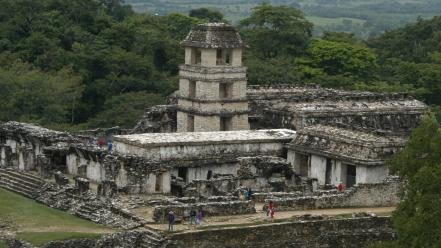 Palenque ancient old ruins textures Wallpaper