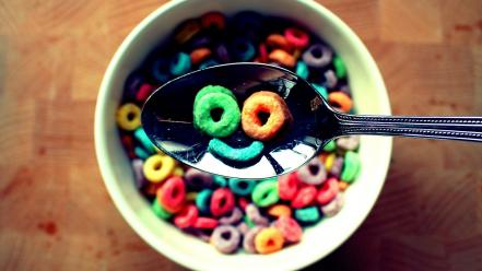 Breakfast cereal colors smiley face smiling wallpaper