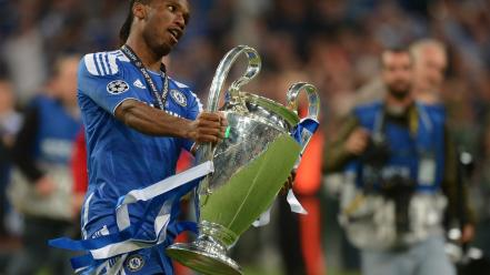 Champions league cup chelsea fc didier drogba wallpaper