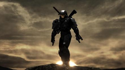 Halo master chief futuristic pc games video wallpaper
