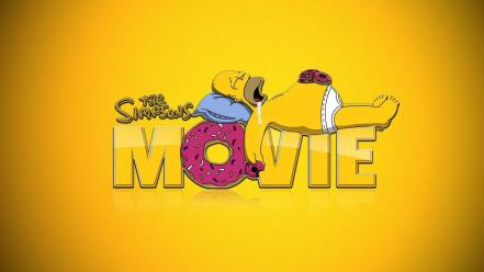 Homer simpson the movie funny sleeping yellow Wallpaper