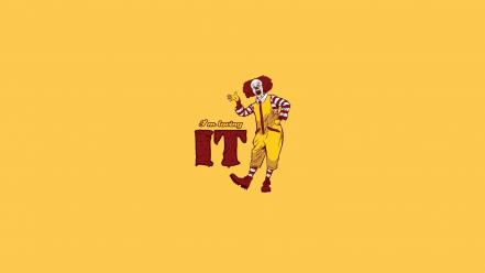 Mcdonalds pennywise abstract cartoons clowns wallpaper