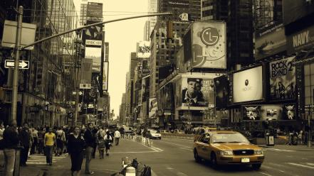 New york city cityscapes streets taxi urban wallpaper