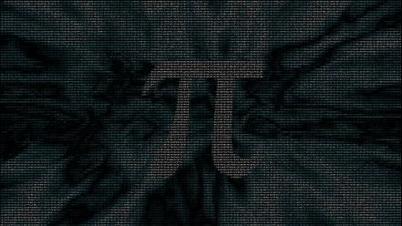 Pi mathematics numbers typography wallpaper