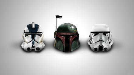 Star wars helmets wallpaper