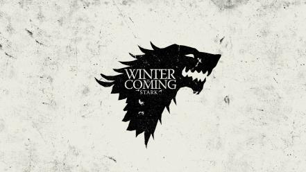 Thrones house stark winter is coming sigil wallpaper
