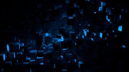 3d cinema4d abstract animated blue light Wallpaper