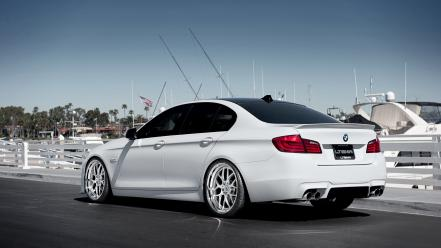 Bmw 5 series boats cars ocean wallpaper