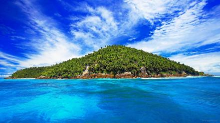 Caribbean sea beaches clouds islands ocean wallpaper