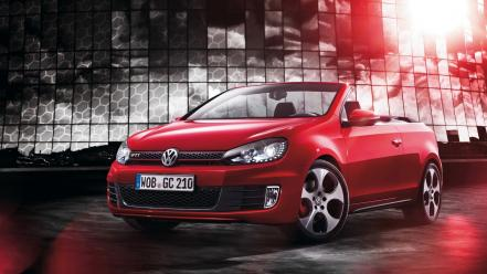 German cars volkswagen golf gti cabriolet vi wallpaper