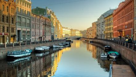 Russia saint petersburg canal cityscapes Wallpaper
