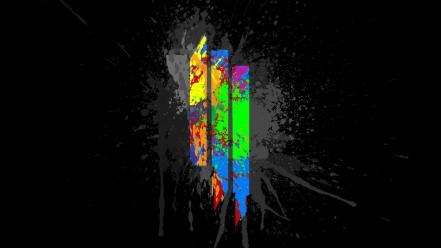Skrillex abstract black background lines multicolor wallpaper