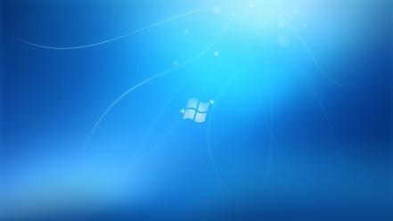 Windows 7 blue operating systems wallpaper