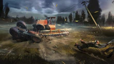 Combine stalker 2 accident trucks twist wallpaper