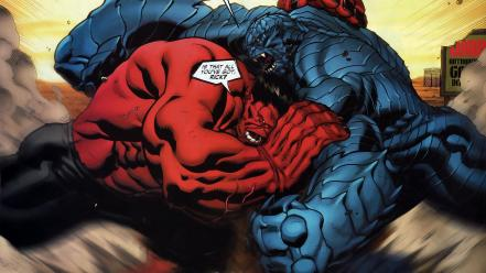 Marvel comics red hulk wallpaper