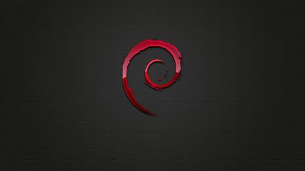 Abstract dark linux technology debian operating systems logos Wallpaper