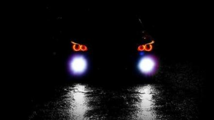 Fog roads vehicles front view headlights german wallpaper
