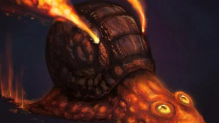 Lava digital art artwork magma slime magcargo wallpaper