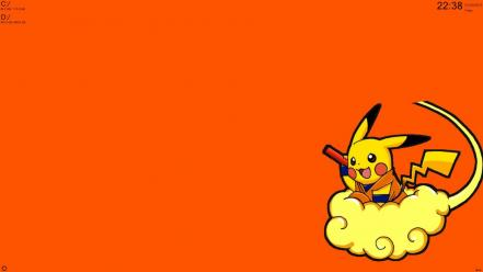 Pokemon dragons pikachu dragon ball kai nimbus cloud wallpaper