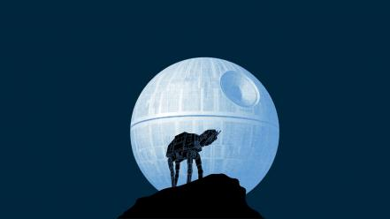 Star wars moon funny at-at howl Wallpaper