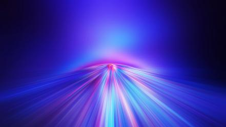 Abstract blue bright colors glow Wallpaper