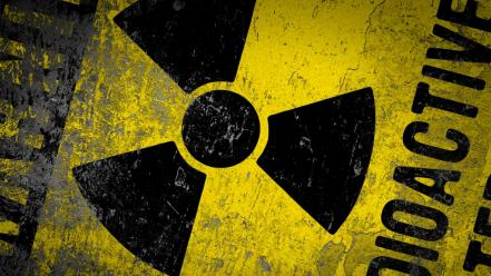 Abstract radioactive sign wallpaper