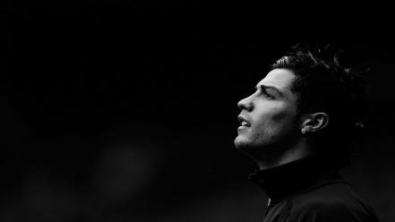 Cristiano ronaldo faces monochrome soccer wallpaper