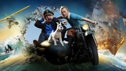 3d captain haddock the adventures of tintin movies Wallpaper