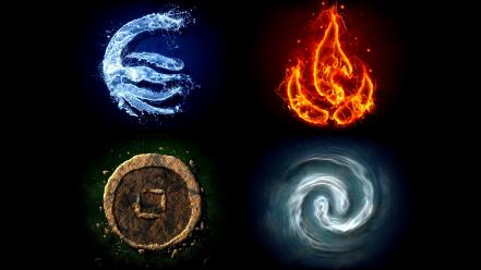 Avatar the last airbender earth korra air elements wallpaper