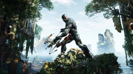 Crysis 3 bow weapon games nanosuit video Wallpaper