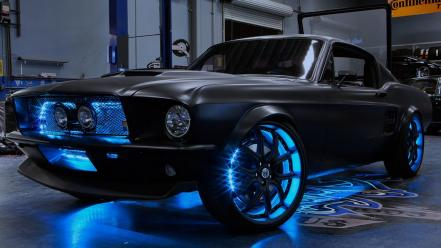 Ford mustang west coast customs black cars wallpaper
