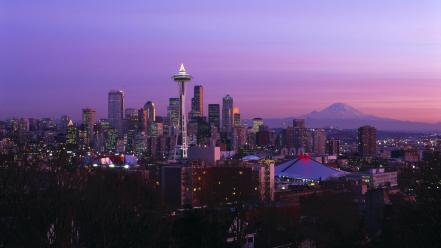 Seattle cities cityscapes night city Wallpaper
