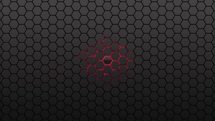 Abstract artwork hexagons honeycomb minimalistic wallpaper
