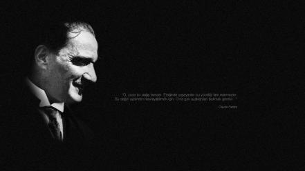 Ataturk mustafa kemal turkey quotes wallpaper
