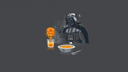 Darth vader artwork funny minimalistic oranges Wallpaper