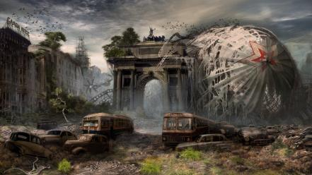 Moscow artwork postapocalyptic Wallpaper