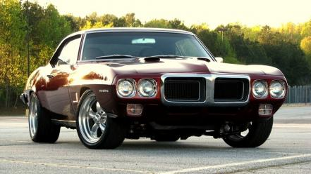 Pontiac firebird cars dark red muscle Wallpaper