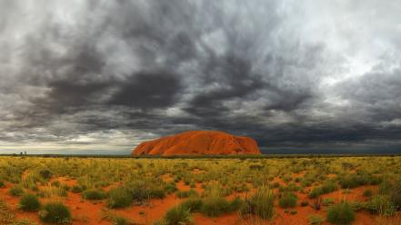 Australia ayers rock national park clouds landscapes wallpaper