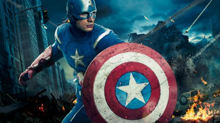 Captain america chris evans the avengers movie artwork wallpaper