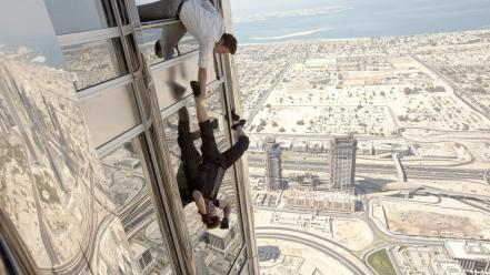 Mission impossible 4 tom cruise falling movies Wallpaper