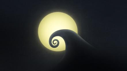 Moon the nightmare before christmas hills wallpaper