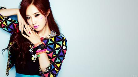 Black asians korean kwon yuri k-pop faces wallpaper