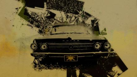 Cars lowriders digital art car old wallpaper