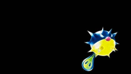 Pokemon simple background black qwilfish wallpaper