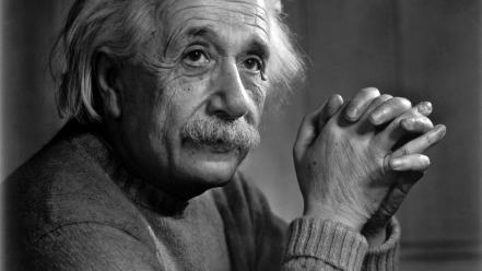 Scientists gray hair great man relativity theory wallpaper