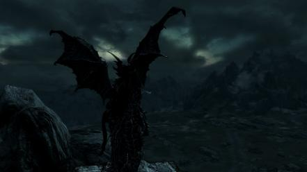 Skyscapes the elder scrolls v: skyrim dovahkiin wallpaper