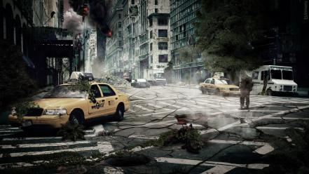 World new york city taxi apocalyptic ny Wallpaper