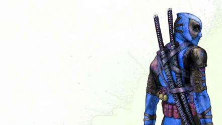 Blue samurai deadpool wade wilson Wallpaper