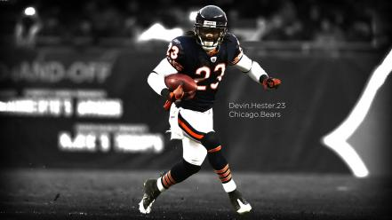 Chicago american football bears selective coloring devin hester wallpaper