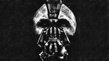 Masks monochrome artwork bane the knight rises wallpaper